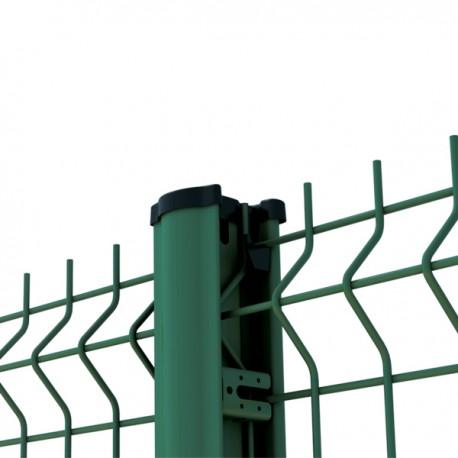 kit cloture 10m panneau rigide poteaux a clips vert qualite pro