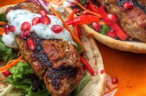Kebab Spies op zelfgemaakt flatbread
