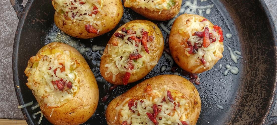gevulde bbq aardappel