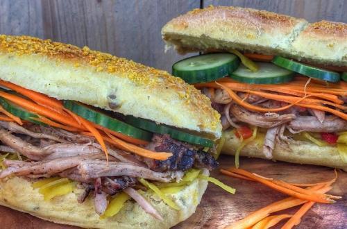 Aziatisch Broodje BBQ Pulled Pork