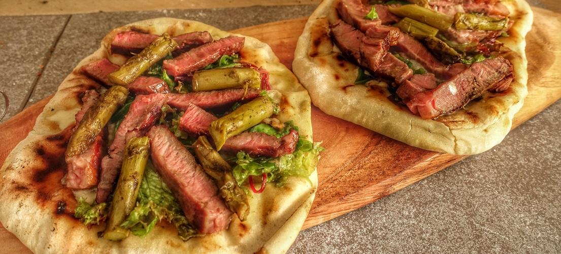 Piadine met Ribeye steak Gormas