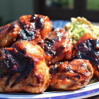 Grilled Chicken with Apricot Barbecue Sauce