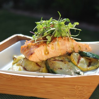 The Salmon Are Running! Grilled Salmon With Mustard Vinaigrette