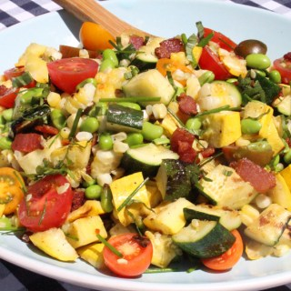 Grilled Squash Succotash (nothin' sufferin' about it!)