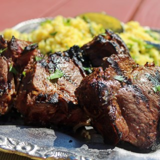 Mango Curry Marinated Lamb Loin Chops
