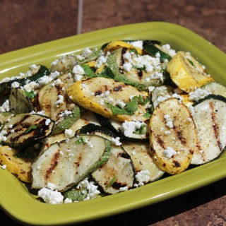 Grilled Cumin and Lime Marinated Summer Squash