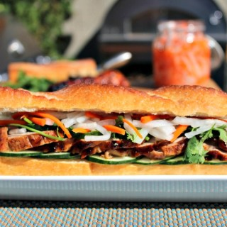 Sriracha-Honey Glazed Pork Bahn Mi