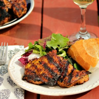 Lemony Balsamic Mustard Marinated Chicken Thighs