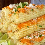 Chili-Lime Buttered Corn with Cotija Cheese