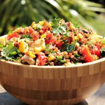 Red Quinoa Salad with Grilled Vegetables