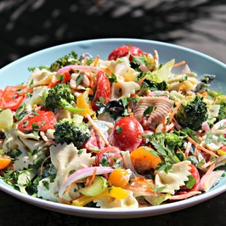 Pasta Primavera Salad with Creamy Lemon Vinaigrette