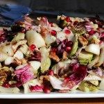 Brussels Holiday Salad with Maple Vinaigrette