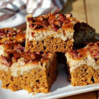 Spiced Pumpkin Latte Cake Bars