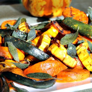 Grilled Winter Squash with Crispy Sage Leaves