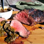 Grilled Tri Tip with Smoky Red Chimichurri