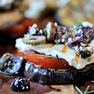Eggplant and Halloumi Stacks