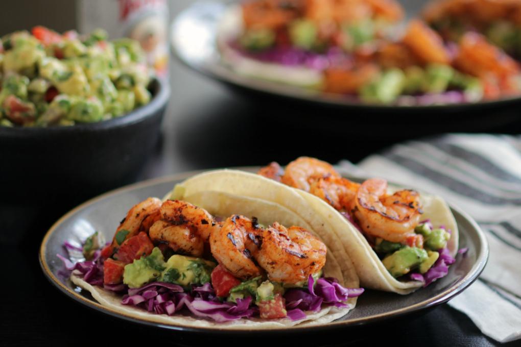 Shrimp and Avocado Tacos h
