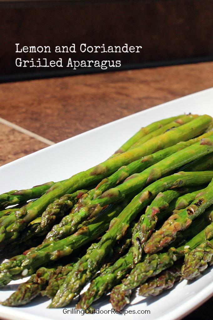 Lemon Coriander Grilled Asparagus - vert