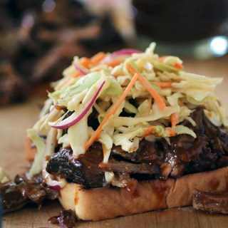 Molasses Short Ribs with BBQ Slaw