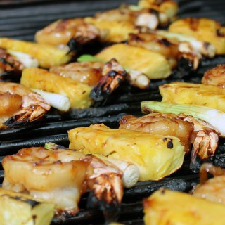 Pineapple Teriyaki Shrimp Skewers