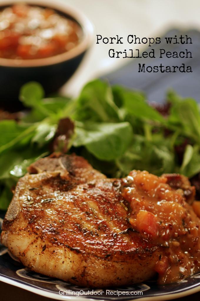 Pork Chop with Peach Mostarda - v