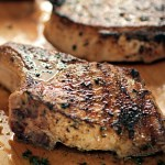 Dry Brined Garlic Thyme Pork Chops