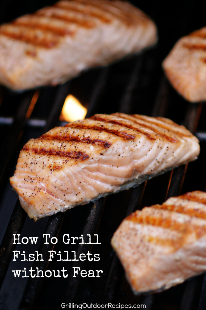 Salmon on the grill - v