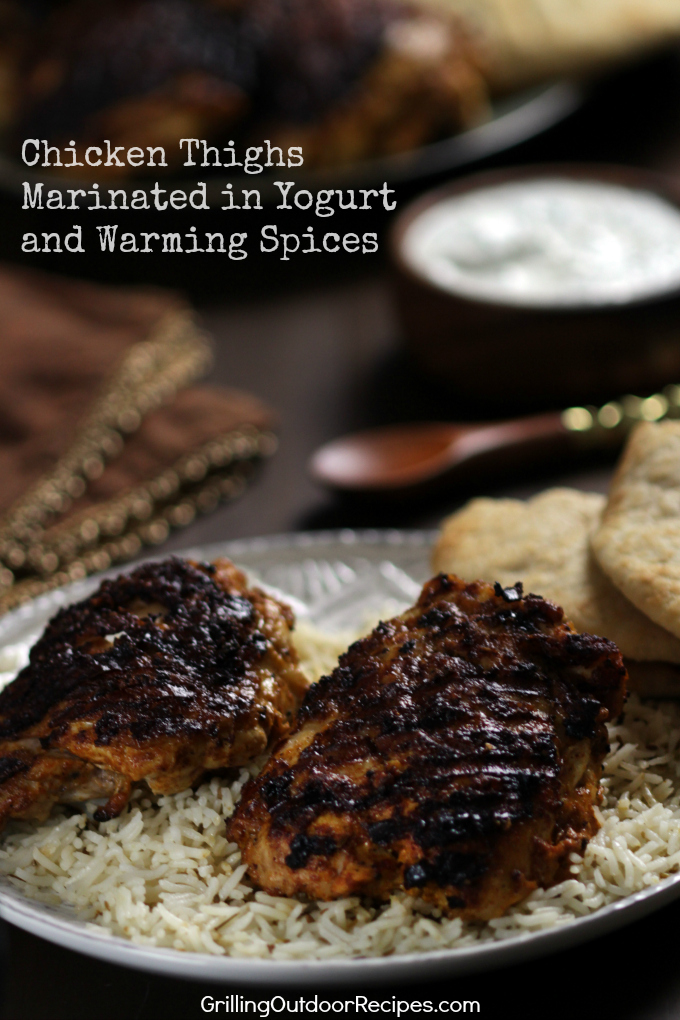 Chicken thighs marinated in yogurt and warming spices this recipe is largely influenced by all of the amazing indian food i have been eating since living on the east coast the yogurt marinade really tenderizes forumfinder