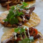 """""""Sweet Heat"""" Grilled Flank Steak Tacos"""