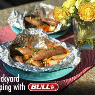 Sausage & Summer Veggies Campfire Foil Packets