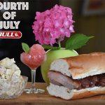 July 4th Slow Cooked BBQ Rib Sandwich with Potato Salad & Watermelon Granita