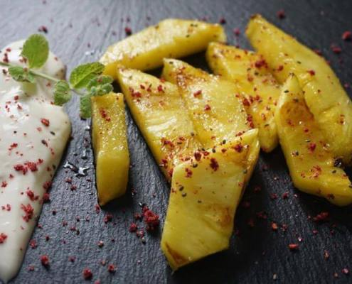 gegrillte-Ananas