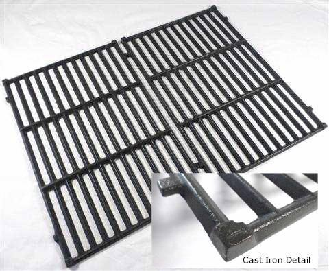 Grill Parts Home Weber Genesis Silver B C 17 1 4 X 23 3 Two Piece Cast Iron Cooking Grate Set