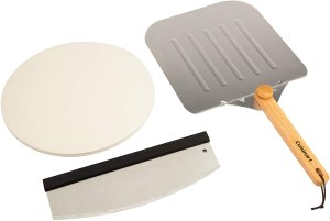 Cuisinart Deluxe Grilling Pack Stone, Peel, Pizza Cutter