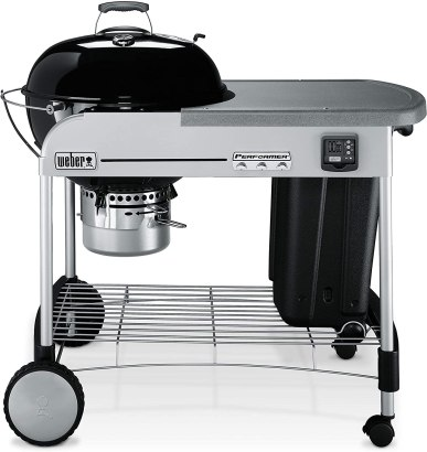 Weber 15401001 Performer Premium Charcoal Grill, 22-Inch, Black kamado grill