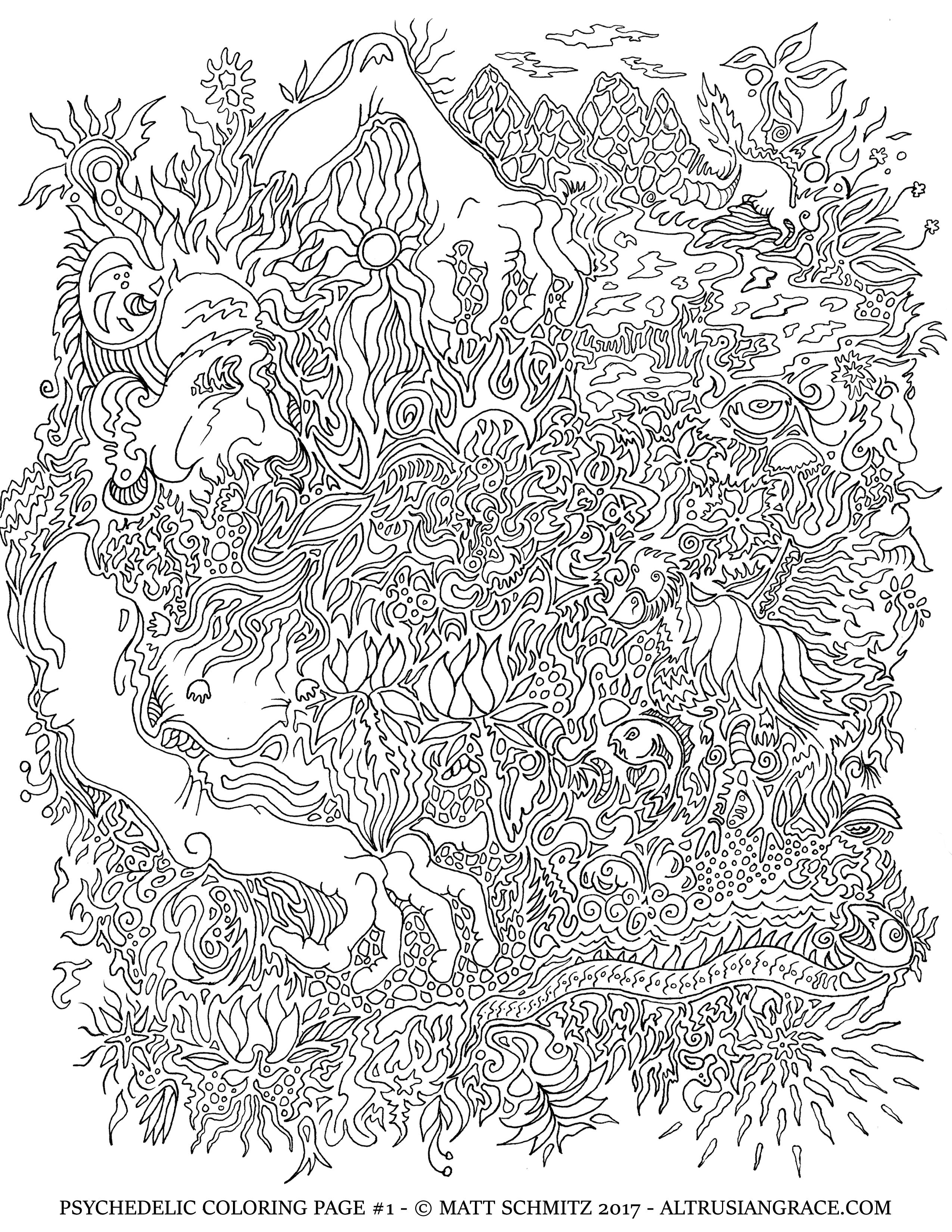 psychedelic coloring page 1 u2013 grimerica