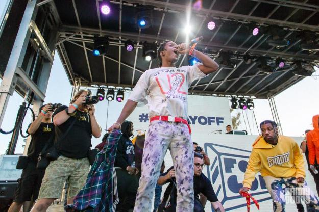 A$AP Rocky at Fool\'s Gold Day Off at Shrine LA