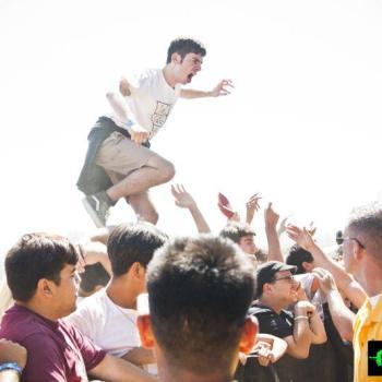 crowd surfing photos