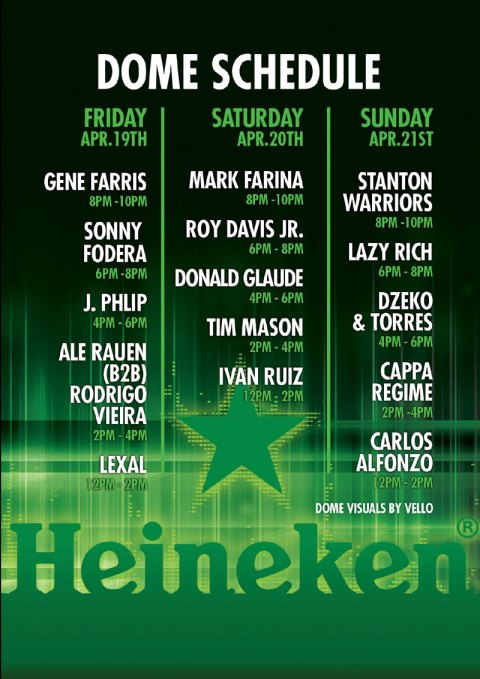heineken-dome at Coachella weekend 2 set times