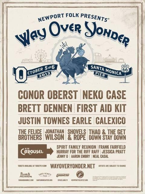 Way Over Yonder festival line up poster