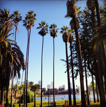 Echo Park lake photos