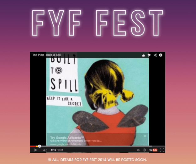 fyf fest 2014 lineup announcement coming