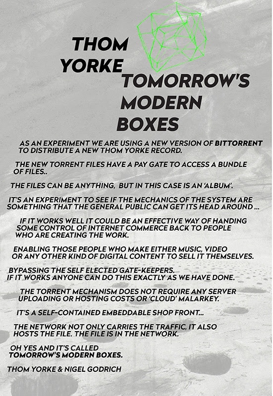 THOM YORKE'S TOMORROWs MODERN BOXES