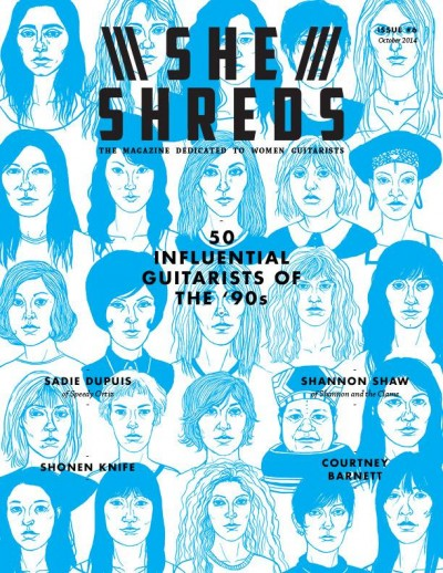 She Shreds Issue #6 Cover Art by Cali Sales