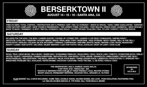 BERSERKTOWN 2015 Flyer