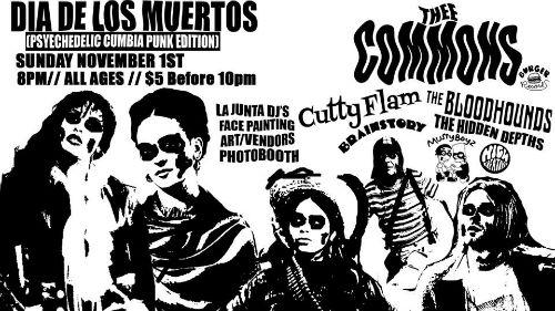 Dia De Los Muertos Psych Cumbia Punk Flyer