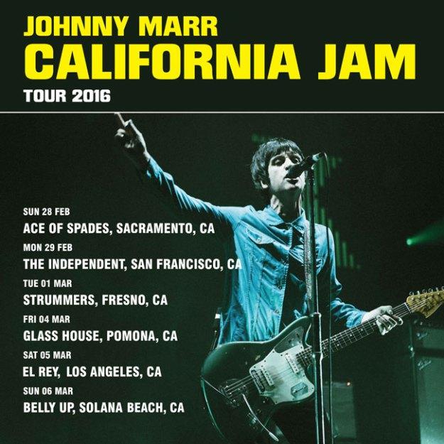 Johnny Marr California Tour