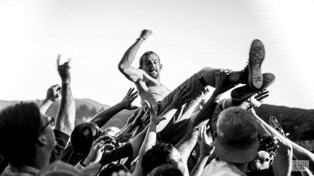 crowd surfing concert crowd photo