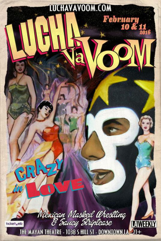 Lucha VaVoom Crazy In Love Flyer