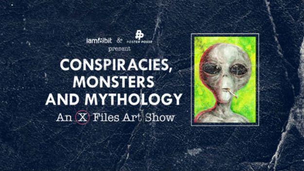 X Files Art Show Flyer